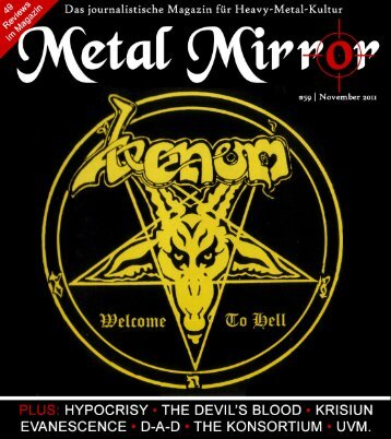 METAL MIRROR #59 - Venom, The Devil's Blood, Hypocrisy ...