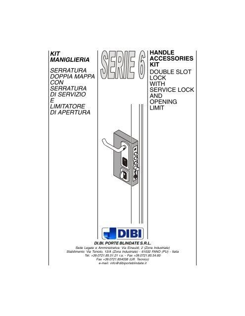 kit serie 6 italia modificheING.p65 - DI.BI. Porte Blindate