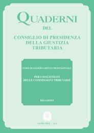 Quaderno n.2 - Consiglio di Presidenza della Giustizia Tributaria