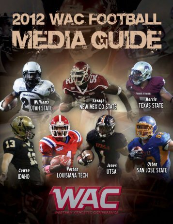 2012 WAC Football Media Guide - XOS Product Marketing