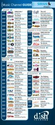 Sirius Channel Guide - DISH Network