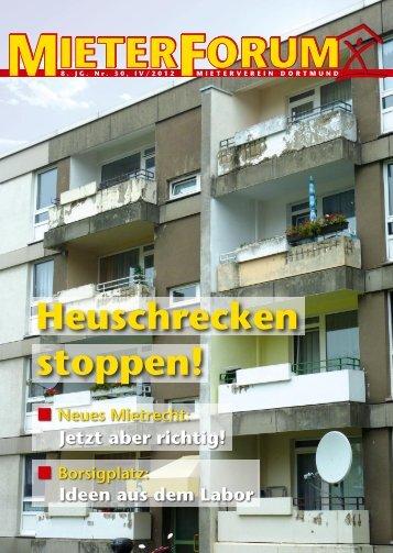 Heuschrecken stoppen! - Mieterverein Dortmund und Umgebung eV