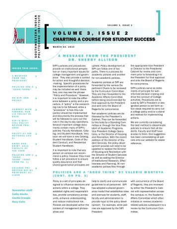 volume 3, issue 2 charting a course for student success