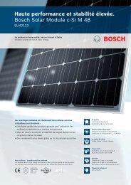 Haute performance et stabilité élevée. Bosch Solar Module c-Si M 48