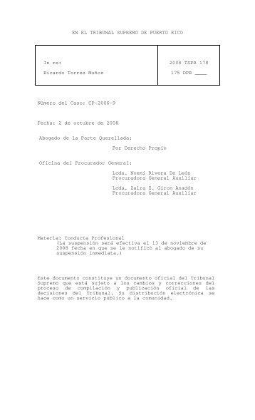 2008 TSPR 178 - Rama Judicial de Puerto Rico