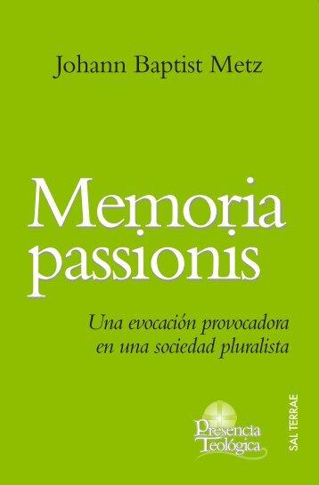 memoria passionis - Editorial Sal Terrae