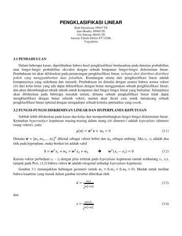 bab-3-pengklasifikasi-linear - Teknik Elektro UGM