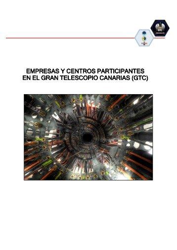 empresas y centros participantes en el gran telescopio canarias (gtc)
