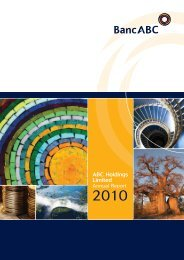 (PDF) BancABC Annual Report 2010