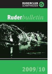 Bulletin 201 Dezember 2009 - beim Ruderclub Schaffhausen