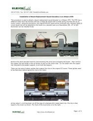 Page 1 of 2 Installation of Board Replacement ... - Ulrich Models