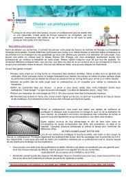Choisir un professionnel - Espace Info Energie Pays de la Loire