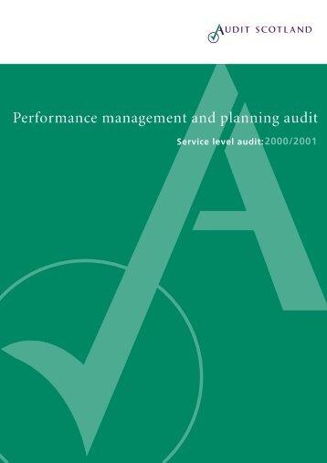 Service Level PMP Audit - Audit Scotland