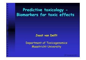 van Delft predictive toxicogenomics 2012 [Compatibility ... - BiGCaT
