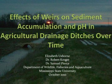 Effects of weirs on phosphorus, sediment accumulation and pH in ...