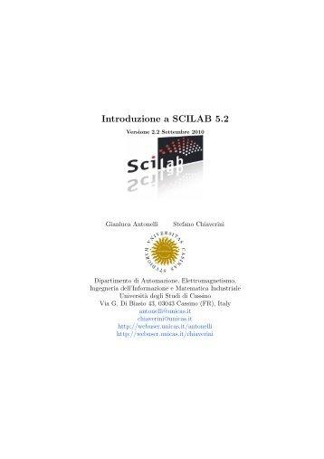 Introduzione a SCILAB 5.2 - Docente.unicas.it