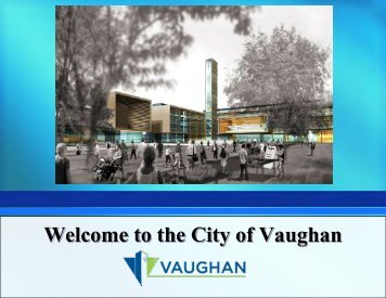 Welcome to the City of Vaughan - Bridgelin.ca