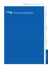 Financial statements (244kb pdf) - British Airways