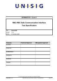 RBC-RBC Safe Communication Interface - Test Specification