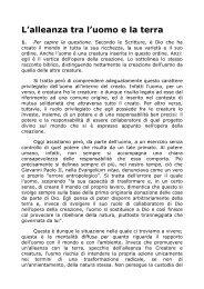 L'alleanza tra l'uomo e la terra - Arcidiocesi di Lucca
