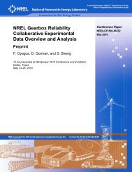 NREL Gearbox Reliability Collaborative Overview & Analysis - Lenox