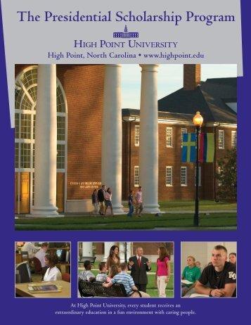 The Presidential Scholarship Program - High Point University