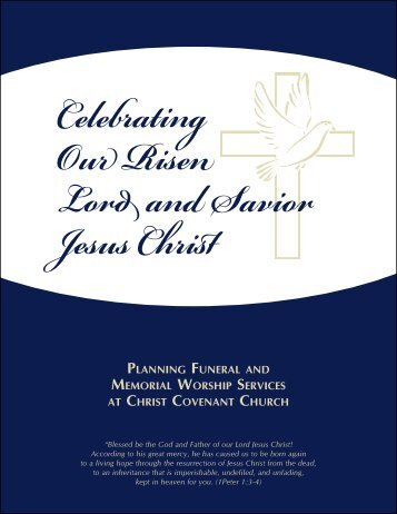 Funeral Workbook - Christ Covenant Church