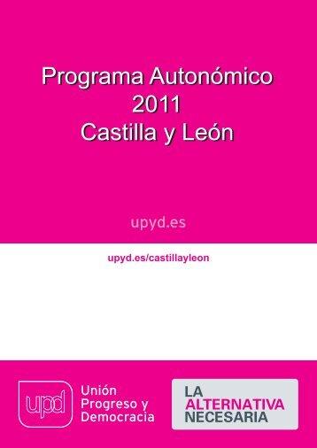 Programa de UPyD en Castilla y León
