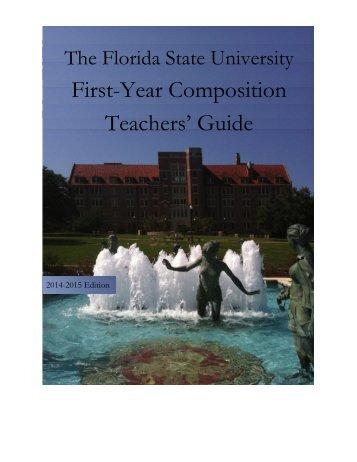 Teaching ENC 1101 - English Department Writing Resources