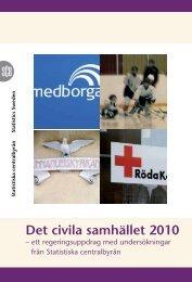 Det civila samhället 2010 (pdf) - Statistiska centralbyrån