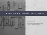 The Role of 2D & 3D Typographic Design in Visual Arts - Course Stuff