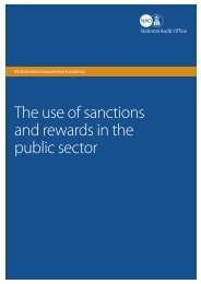 The use of sanctions and rewards in the public sector