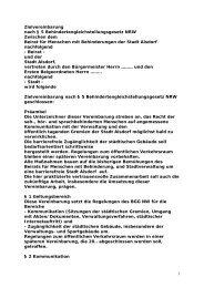 Entwurf Zielvereinbarung