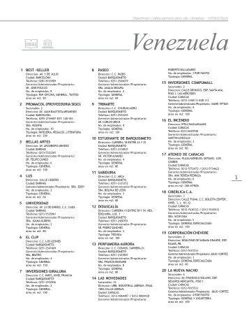 Librerías - VENEZUELA - Cerlalc