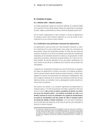 8. mobilité et déplacements - Etat de Genève