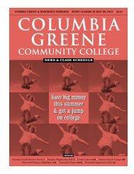Summer 2010 News & Class Schedule - Columbia-Greene ...
