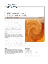 Yeast slurry mixing using rotary jet mixer technology - Alfa Laval