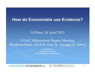How do Economists use Evidence? - Vanderbilt University