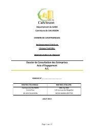 Acte d'Engagement Calvisson Ch Caveyrargues - Mairie de Calvisson