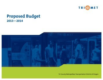 FY2014 Proposed Budget - TriMet