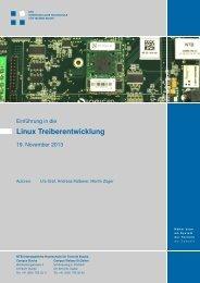 Linux Treiberentwicklung - NTB - Interstaatliche Hochschule für ...