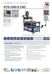 Produktinfo KTS-1050-S CNC - Soyer-shop.de