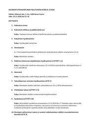 Hallituksen kokouksen 23.11. esityslista - Nuorisotutkimusseura