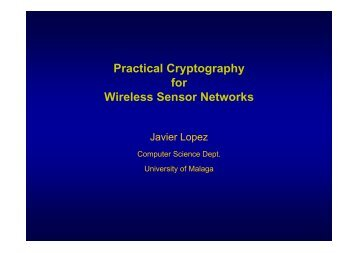 Practical Cryptography for Wireless Sensor Networks
