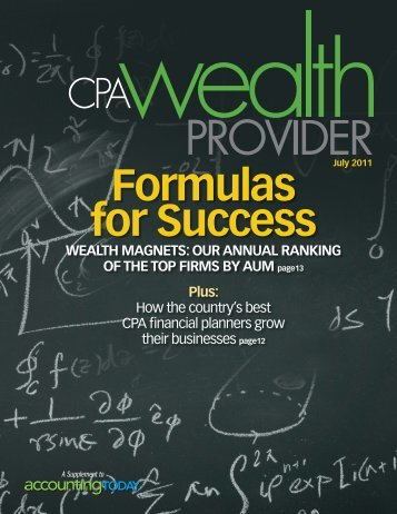 Formulas for Success - BAM Advisor Services