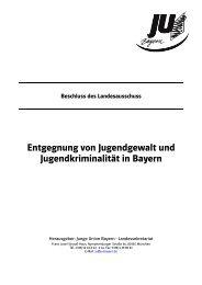 Entgegnung von Jugendgewalt in Bayern - Junge Union Bayern