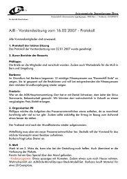 AJB - Vorstandssitzung vom 16.02.2007 - Protokoll - Astronomische ...