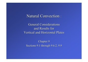Natural Convection :