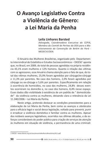 a Lei Maria da Penha - Emerj