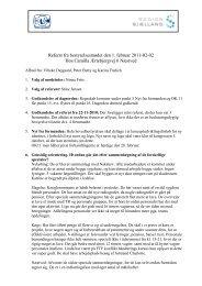 Referat fra Regionsbestyrelsesmøde den 1. februar 2011
